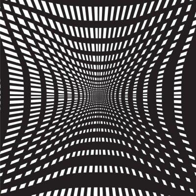 Fototapete Tunnel schwarz und weiß abstrakten Hintergrund