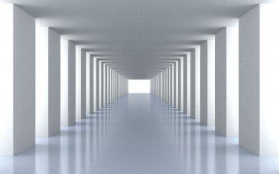 Fototapete Tunnel weißem Licht