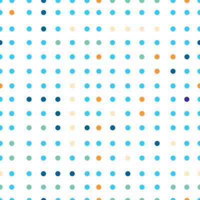 Fototapete Tupfen Vektor nahtlose Muster. Dots in verschiedenen Farben.
