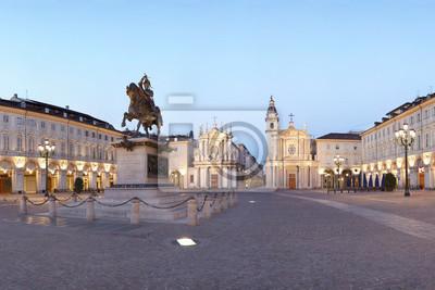 Turin, San Carlo-Platz, Italien