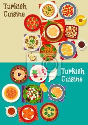 Turkische Kuche Mit Fleischsuppe Frikadellen Vegetarische Salate