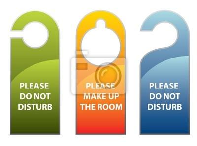 Turknauf Oder Kleiderbugel Schild Bitte Nicht Storen Fototapete