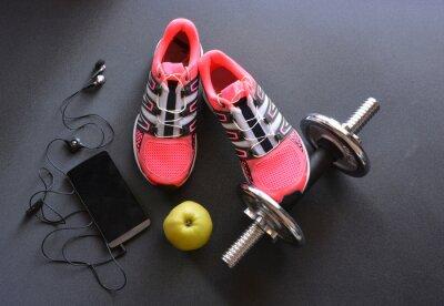 Fototapete Turnschuhe, Kleidung für Fitness-