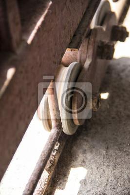 Türscheibe / metal rad für schiebetür der garage fototapete ...