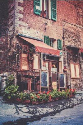 Fototapete Tuscan restaurant