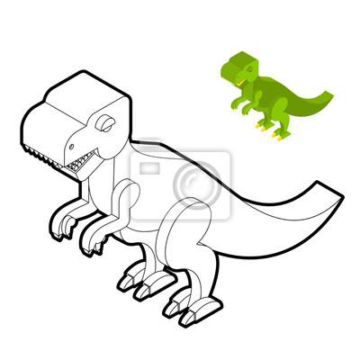 Tyrannosaurus Ausmalbilder Kostenlos Dinosaurier Isometrischen Fototapete Fototapeten Dino Farben Drachen Myloview De