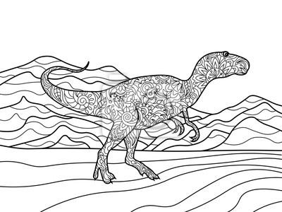 Tyrannosaurus Malbuch für Erwachsene Vektor