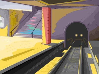 Fototapete U-Bahn-Szene