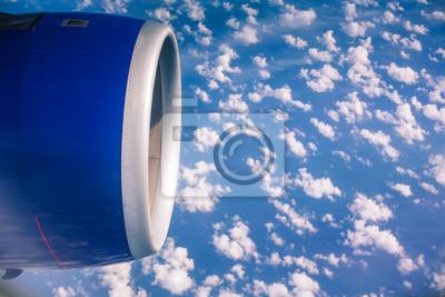 über Die Wolken Fliegen Blick Aus Dem Flugzeug Fototapete