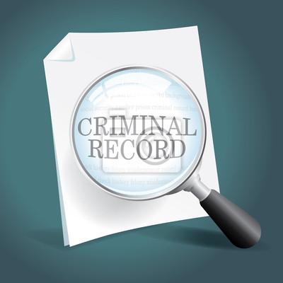 Überprüfen eines Criminal Record