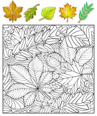 Erfreut Kinder Färben In Blättern Bilder - Ideen färben - blsbooks.com