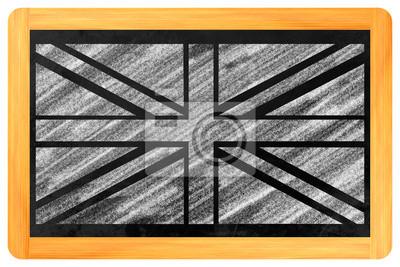 UK Flagge auf Einer Tafel