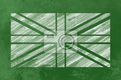 UK Flagge Markt auf Einer Tafel