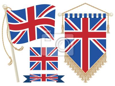 uk Flagge und Wimpel