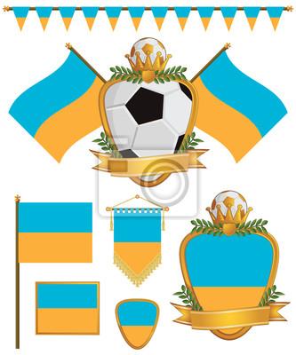 Ukraine-Flaggen