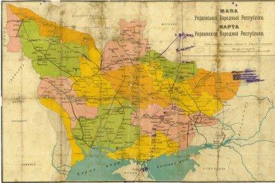 Fototapete Ukraine Jahrgang Karte