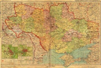 Fototapete Ukrainisch SSR Jahrgang mao.