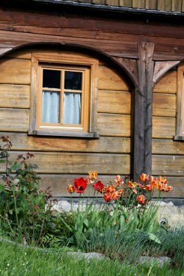 Fototapete Umgebindehaus in Hinterhermsdorf