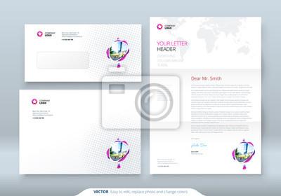 Umschlag Dl C5 Briefkopf Corporate Business Vorlage Für Umschlag