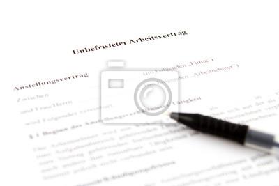 Unbefristeter Arbeitsvertrag Fototapete Fototapeten Deutsch