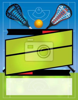 Unbelegter Lacrosse-Flyer-Hintergrund