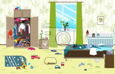 ungew hnlicher raum in dem junge familie mit dem kleinen baby fototapete fototapeten. Black Bedroom Furniture Sets. Home Design Ideas