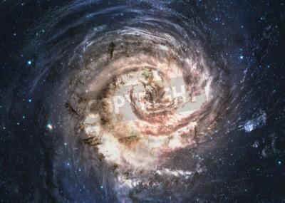 Fototapete Unglaublich schöne Spiralgalaxie irgendwo im Weltraum.