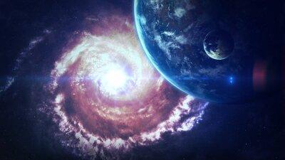 Fototapete Universe Szene mit Planeten, Sternen und Galaxien im Weltraum zeigt die Schönheit der Raumfahrt. Elemente von der NASA eingerichtet