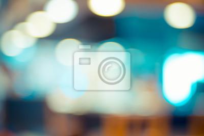 Fototapete Unscharfen Hintergrund abstrakte blaue Bokeh Licht