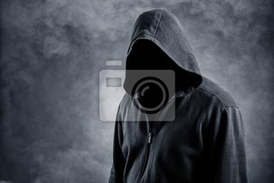 Unsichtbare Mann in der Haube