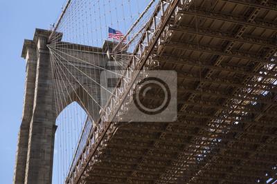 Unter Brooklyn-Brücke, Manhattan, New York, USA