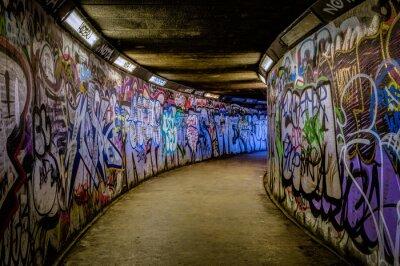 Fototapete Untergrundbahn-Graffiti