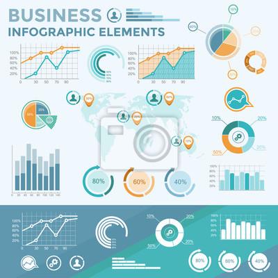 Unternehmen Infografische Elemente