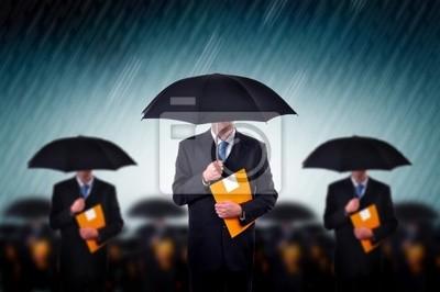 Fototapete Unternehmer im regen