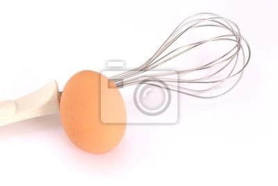 Uovo fresco e frusta da cucina fototapete • fototapeten Eiweiß ...