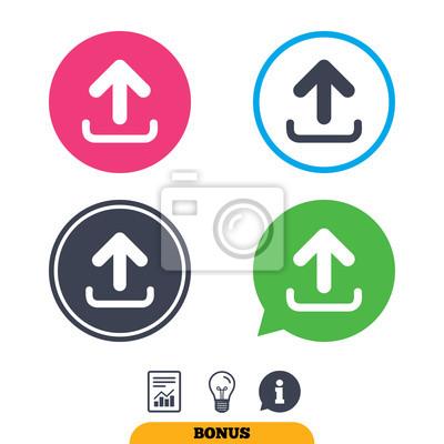 Upload zeichen-symbol. ladesymbol. fototapete • fototapeten App ...