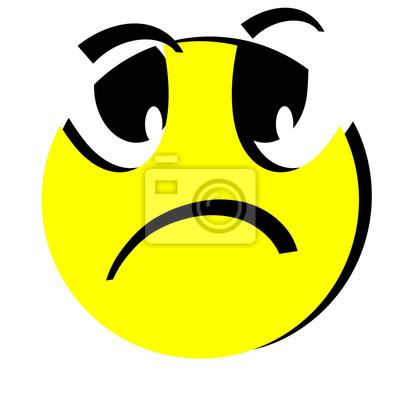 Upset Emoticon Smail Fototapete Fototapeten Negativität