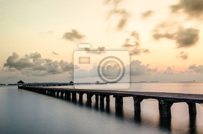 Urlaub und Tourismus-Konzept. Tropic Paradise Jetty