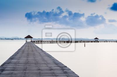 Urlaub und Tourismus-Konzept. Tropic Paradise. Mole