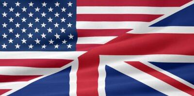 Fototapete US - UK - Flagge