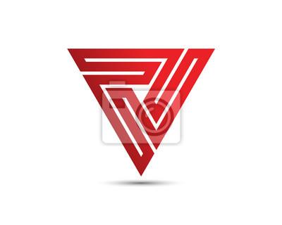 Logo Template | V Letter Logo Template Fototapete Fototapeten Programmierer