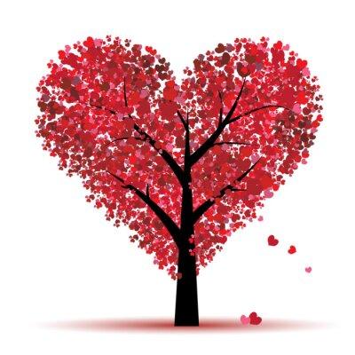 Valentine Baum, Liebe, Blatt von Herzen
