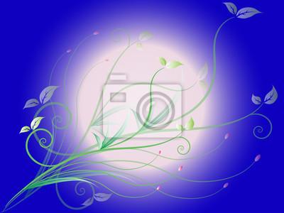 Valentine floral Grenze auf blauem Hintergrund