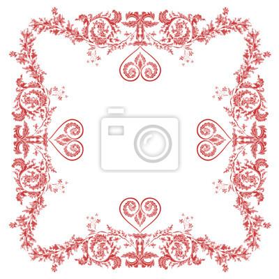 Valentine heart ornaments decorative frame
