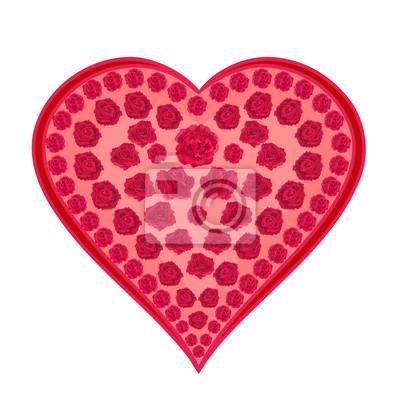 Valentine Herz aus Rosen