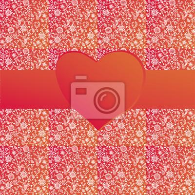 Valentine Hintergrund mit Band und Muster