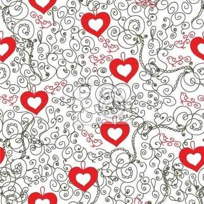 Valentine romantische Vintage nahtlose Muster