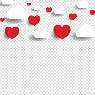 Valentines Day Poster WIth Heart With Gradient Mesh, Vector Illustration