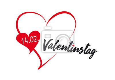 Valentinstag Herz Datum Fototapete Fototapeten Herzlich
