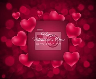 Valentinstag Herz Liebe Und Gefuhle Hintergrund Design Vektor